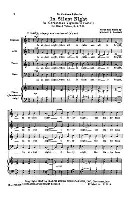 Mitchell Southall: In Silent Night: SATB