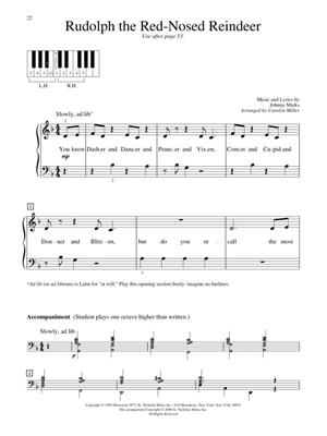 Christmas Piano Solos First Grade
