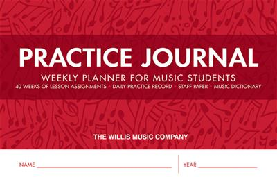 Practice Journal-Weekly Planner For Music Students