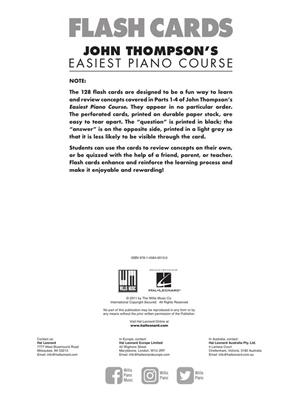 John Thompson: Flash Cards: Piano or Keyboard