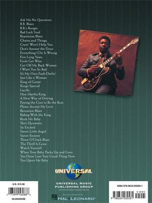 B.B. King: Anthology Guitar Recorded Versions: Guitar or Lute