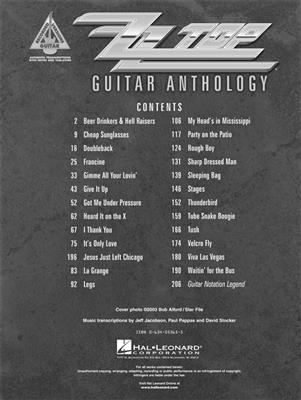 ZZ Top: ZZ Top - Guitar Anthology: Guitar or Lute
