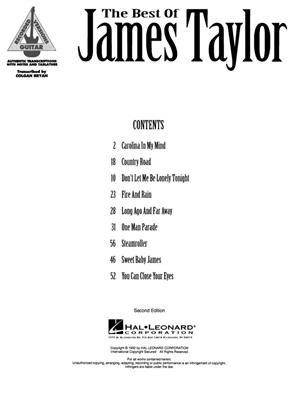 James Taylor: The Best Of James Taylor: Guitar or Lute