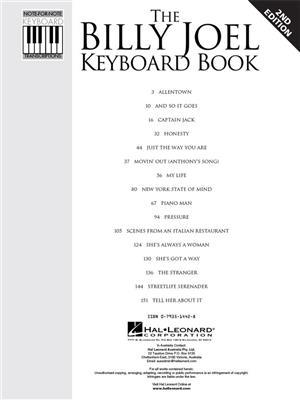 Billy Joel: The Billy Joel Keyboard Book: Electric Keyboard