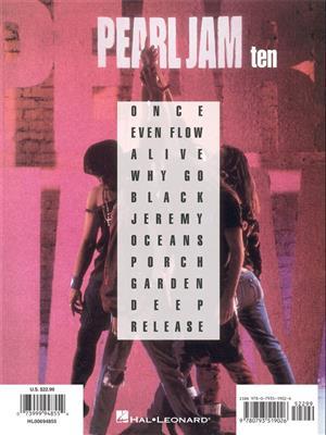 Pearl Jam: Pearl Jam - Ten (Updated Edition): Guitar