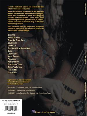 Jaco Pastorius: Jaco Pastorius Bass Signature Licks: Bass Guitar