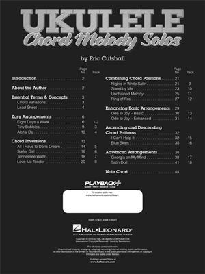 Eric Cutshall: Ukulele Chord Melody Solos: Ukulele