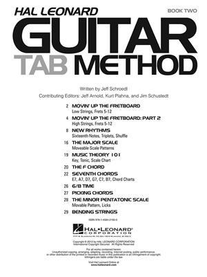 Hal Leonard Guitar TAB Method