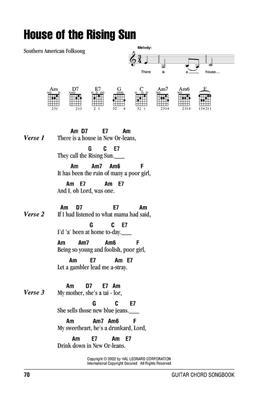 Guitar Chord Songbook Folksongs: Guitar