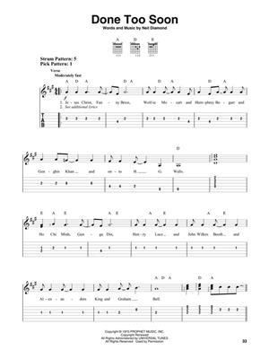 Neil Diamond: Neil Diamond Anthology: Guitar or Lute