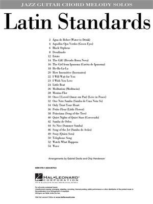 Latin Standards Jazz Guitar Chord Melody Solos: Arr. (Gabriel Davila): Guitar Solo