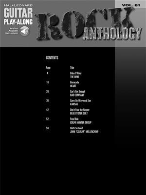 Rock Anthology : Guitar