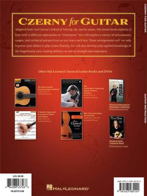 Carl Czerny: Czerny For Guitar - 12 Scale Studies: Guitar or Lute