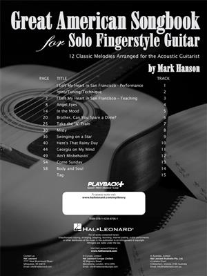 Mark Hanson: Great American Songbook for Solo Fingerstyle Gtr: Guitar or Lute