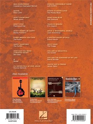 Pop Classics For Mandolin: Arr. (Bobby Westfall): Mandolin