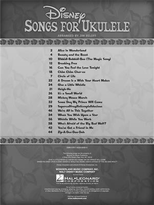 Jim Beloff: Disney Songs for Ukulele: Ukulele
