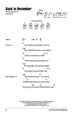Taylor Swift: Guitar Chord Songbook: Guitar or Lute