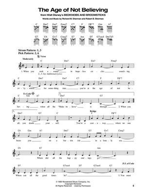 The Disney Songs Book : Guitar