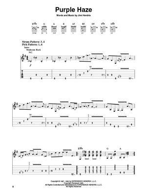 Jimi Hendrix: Smash Hits - Easy Guitar: Guitar or Lute