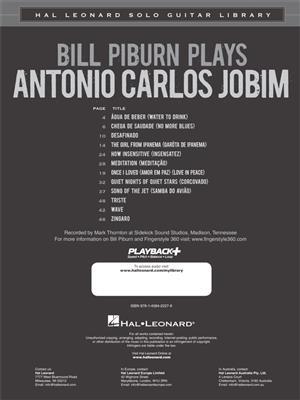 Antonio Carlos Jobim: Bill Piburn Plays Antonio Carlos Jobim: Arr. (Bill Piburn): Guitar Solo