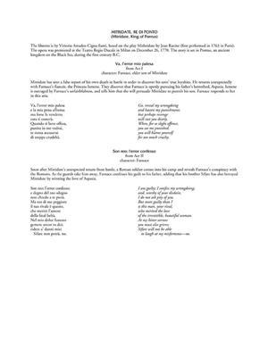 Wolfgang Amadeus Mozart: Arias for Mezzo-Soprano: Vocal