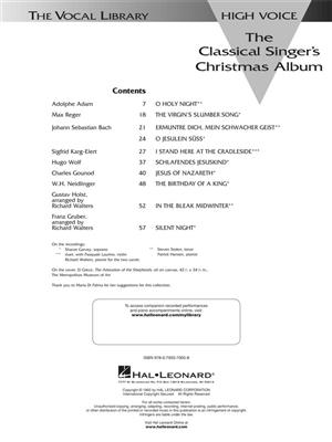 The Classical Singer's Christmas Album: High Voice