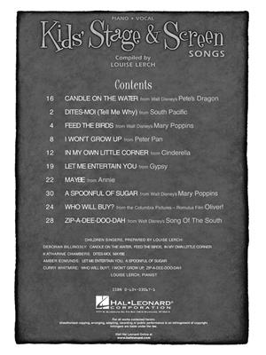 Kids' Stage & Screen Songs: Arr. (Louise Lerch): High Voice