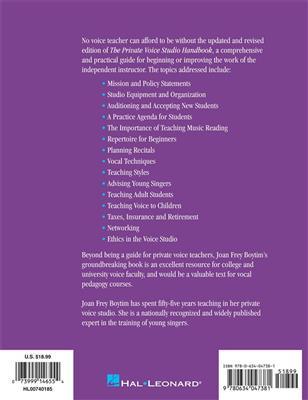 Joan Frey Boytim: The Private Voice Studio Handbook