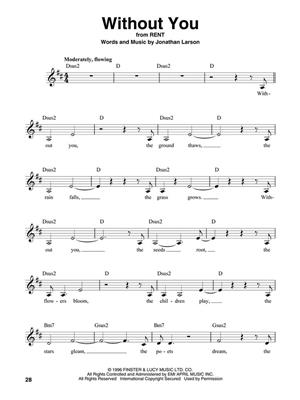 Broadway Songs - For Female Singers: Melody, Lyrics & Chords