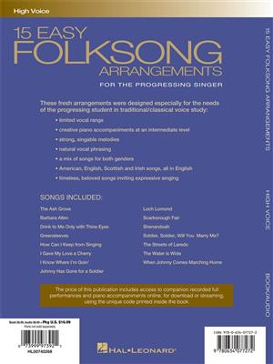 15 Easy Folksong Arrangements : Vocal Solo