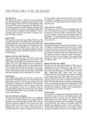 15 Easy Folksong Arrangements : Vocal