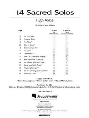 14 Sacred Solos - High Voice: High Voice
