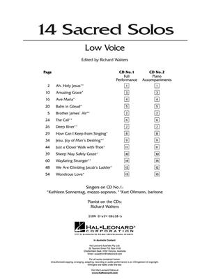 14 Sacred Solos - Low Voice