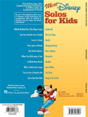 More Disney Solos for Kids: Vocal