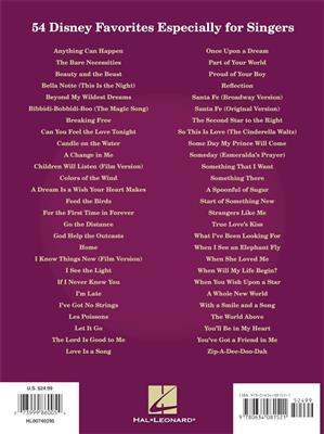 Disney Songs For Singers : Vocal