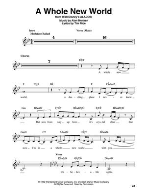 Disney Favorites: Melody, Lyrics & Chords