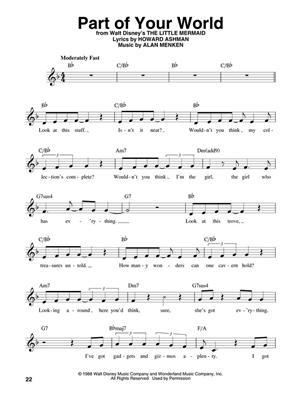 Disney's Best: Melody, Lyrics & Chords