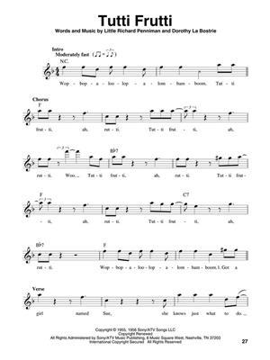 Hits of the '50s : Melody, Lyrics & Chords