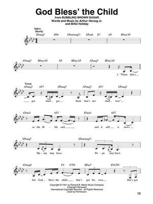 Billie Holiday: Billie Holiday: Melody, Lyrics & Chords