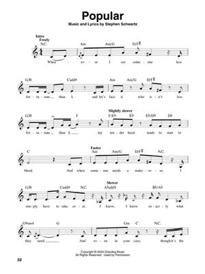 Stephen Schwartz: Wicked: Melodyline, Lyrics and Chords