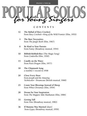 Popular Solos for Young Singers: Vocal