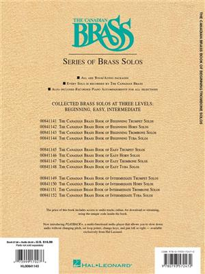 The Canadian Brass: Canadian Brass Book Of Beginning Trombone Solos: Arr. (Eugene Watts): Trombone