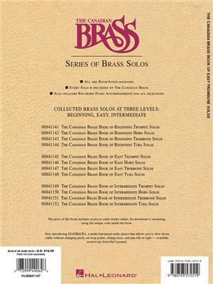 The Canadian Brass: Canadian Brass Book Of Easy Trombone Solos: Arr. (Eugene Watts): Trombone