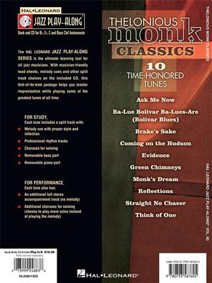 Thelonious Monk: Thelonious Monk Classics: C/ B-Flat/E-Flat and Bass Instruments