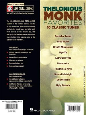 Thelonious Monk: Thelonious Monk Favorites: Any Instrument