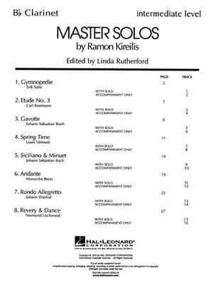Master Solos Intermediate Level Clarinet