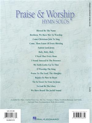 Praise and Worship Hymn Solos - Flute