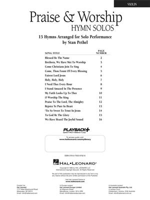 Praise and Worship Hymn Solos - Violin
