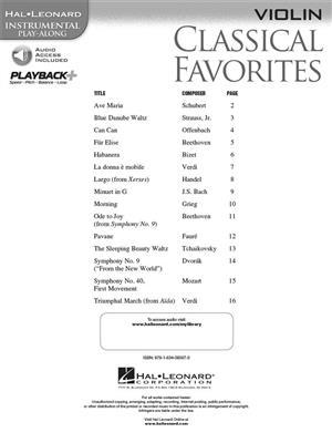 Classical Favorites - Violin: Violin