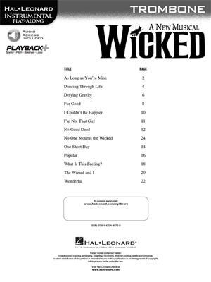 Stephen Schwartz: Wicked - Trombone: Trombone